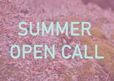 Summer open call FIELD PROJECTS