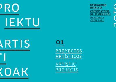 Residencia para PROYECTO ARTÍSTICO 2019 en Tabakalera