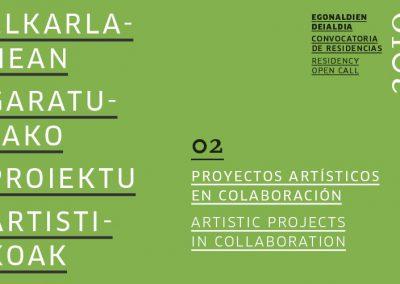 Residencia para PROYECTOS ARTÍSTICOS EN COLABORACIÓN  2019 en Tabakalera