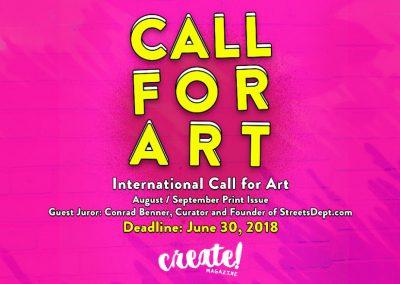 Create Magazine CALL FOR ART