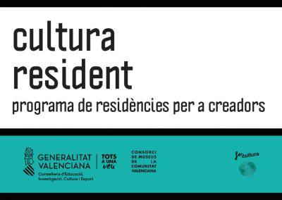 Cultura Resident. Convocatoria de producción artística