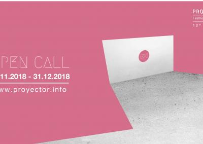 PROYECTOR 2019. CONVOCATORIA 12º Festival de Videoarte